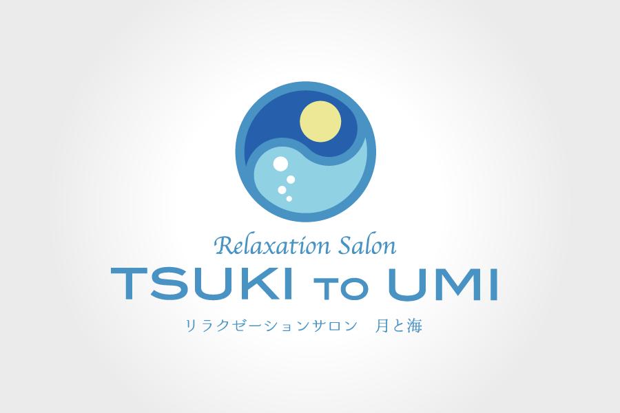 リラクゼーションサロン月と海のロゴ